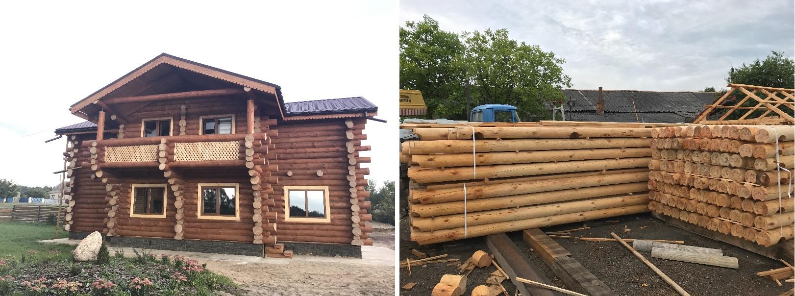 Świeże Dom z bali - Domy drewniane w domach z bali na Ukrainie. TY48